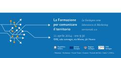 La formazione per comunicare il territorio – La Sardegna come laboratorio di marketing territoriale 2.0