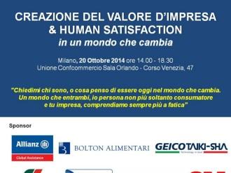 CREAZIONE DEL VALORE D'IMPRESA  & HUMAN SATISFACTION in un mondo che cambia