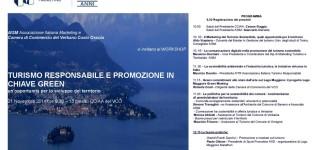 TURISMO RESPONSABILE E PROMOZIONE IN CHIAVE GREEN un'opportunità per lo sviluppo del territorio